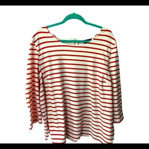 Jules & Leopold 3x red and white striped shirt